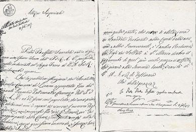 Lettera del fondatore Sac.Pietro Buffetti