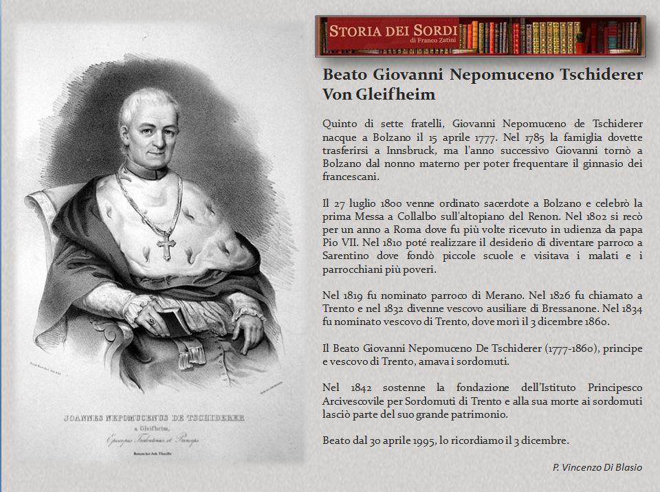 Giovanni Nepomuceno Tschiderer Von Gleifheim