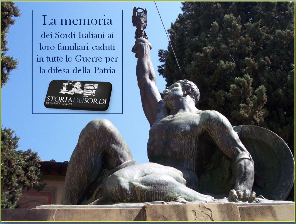 Memoria dei sordi italiani ai caduti in tutte le guerre