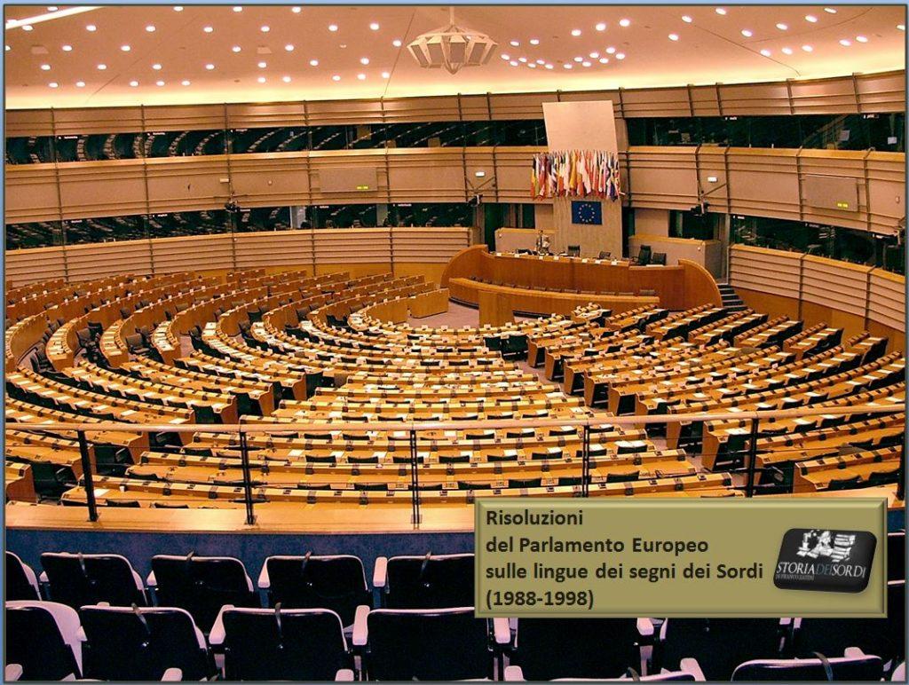Risoluzione Parlamento Europeo su Lingua dei segni