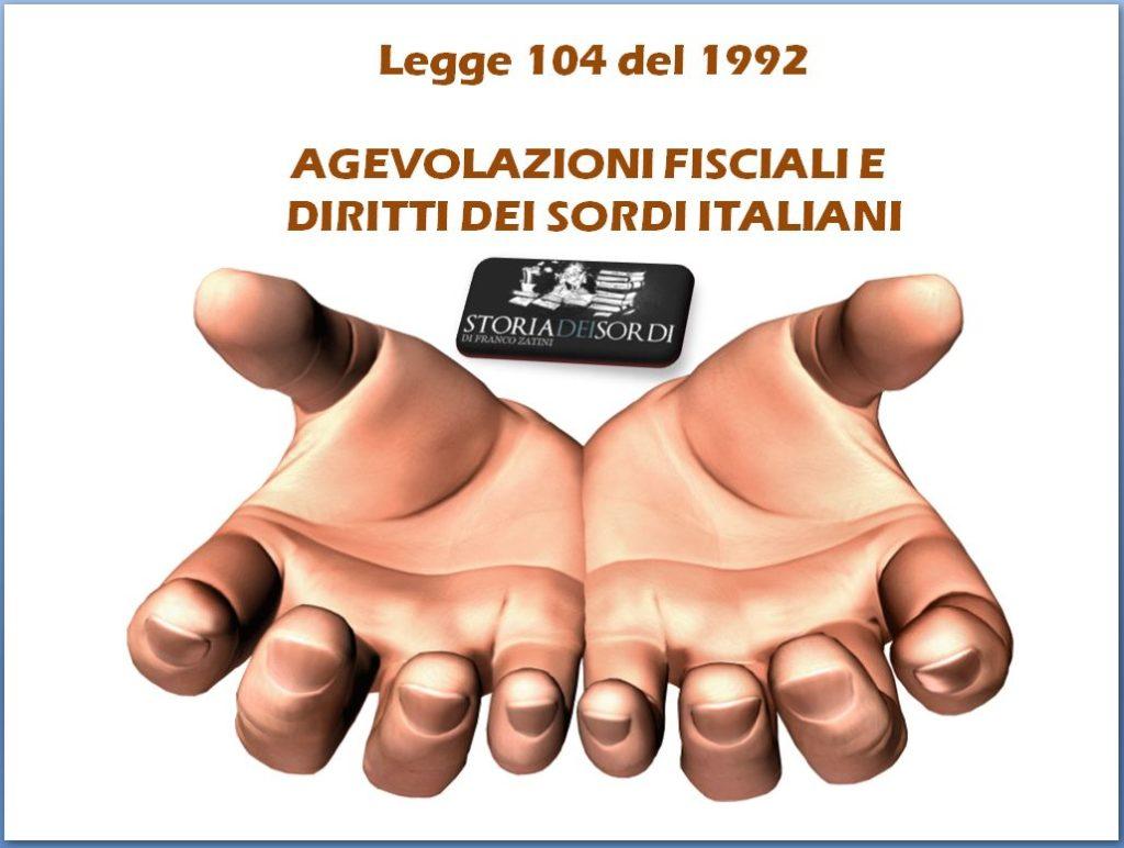 Legge 104 del 1992 Storia dei sordi