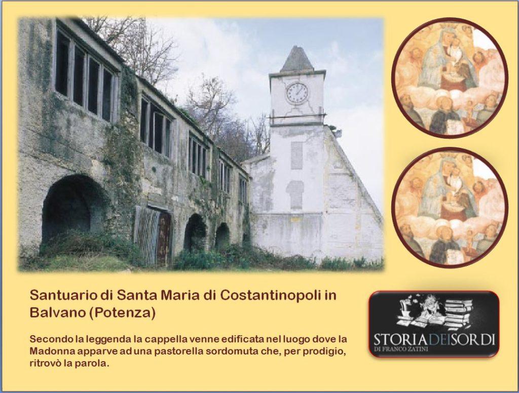 Santuario di Santa Maria di Costantinopoli in Balvano (Potenza)