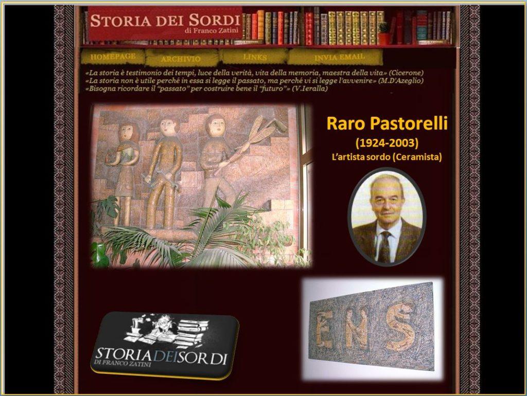 Raro Pastorelli 1924-2003 storia dei sordi
