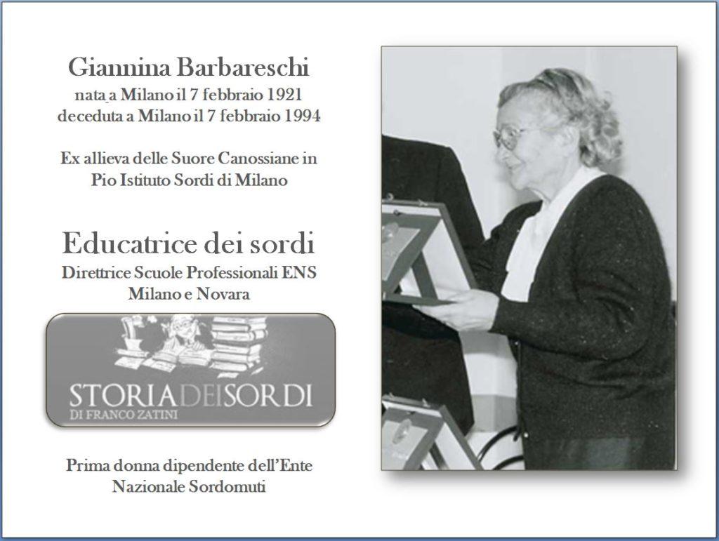Barbareschi Giannina 1921 . 1994