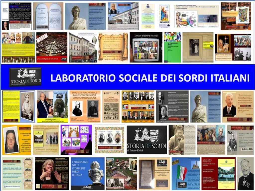 Storia dei Sordi d'Italia Laboratorio sociale dei sordi italiani