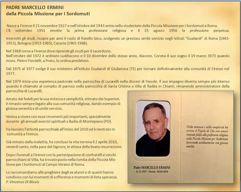 Padre Marcello Ermini della Piccola Missione Sordomuti