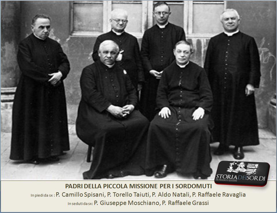 Padri della Piccola Missione anni 30