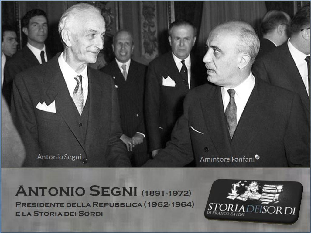 Antonio Segni e storia dei sordi