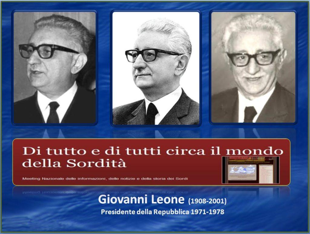 Giovanni Leone Storia dei Sordi