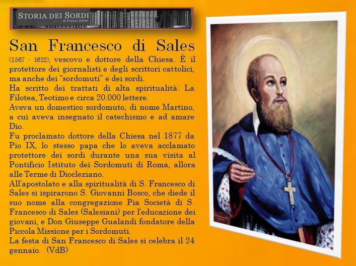 San Francesco di Sales Patrono dei sordi 2016
