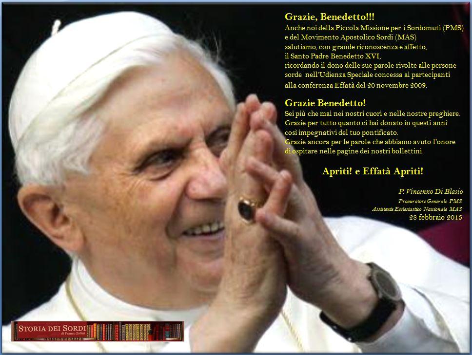 Benedetto XVI PMS e MAS