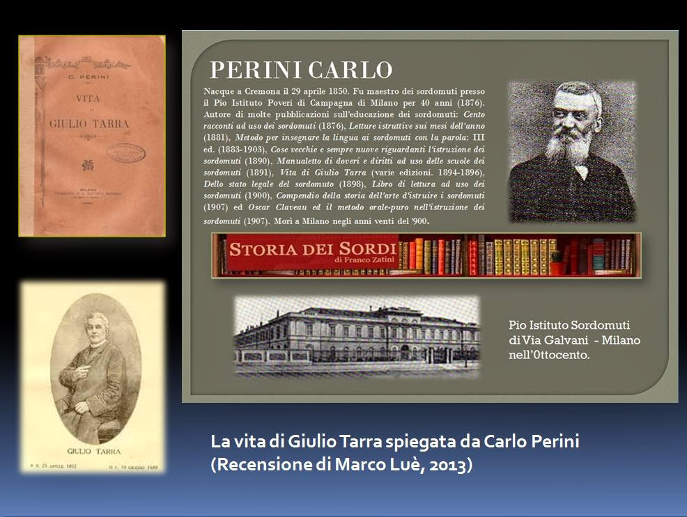 Vita di Giulio Tarra spiegata da Carlo Perini