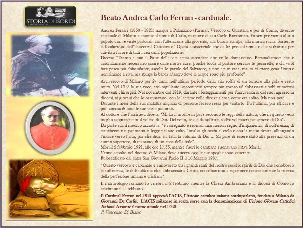 Ferrari Andrea Carlo 1850 - 1921 (Beato)