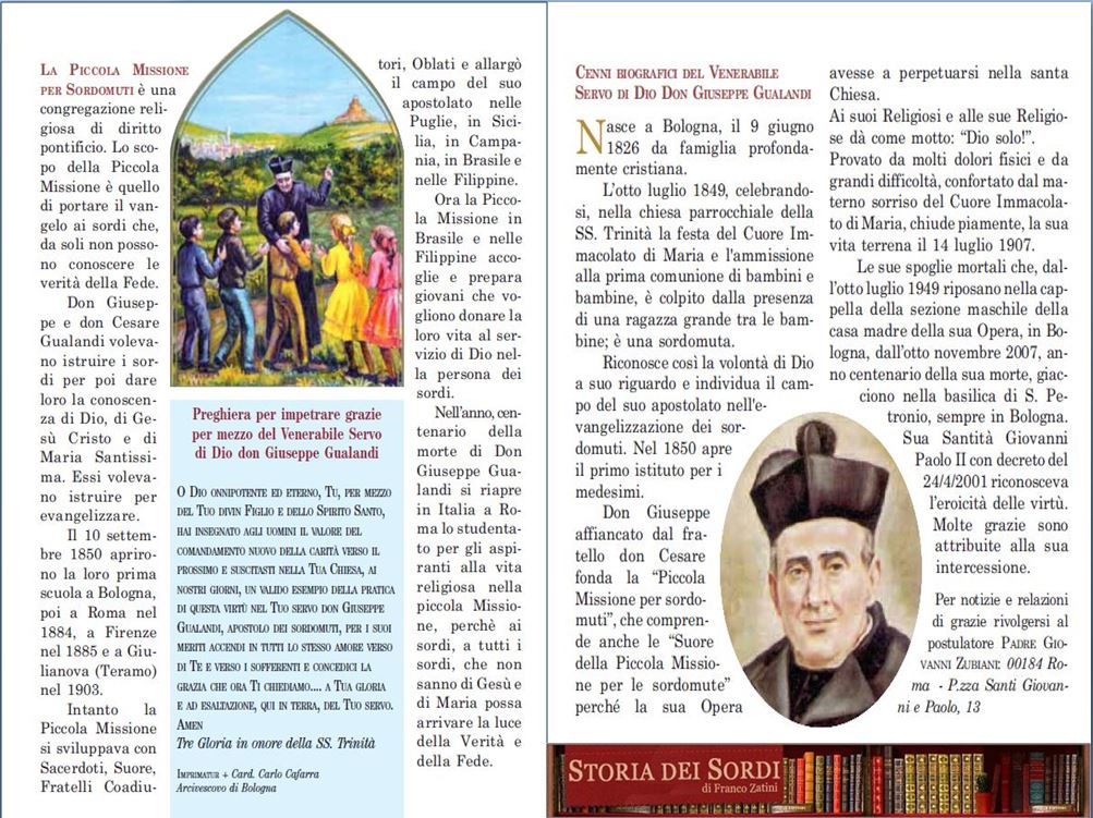 Piccola Missione per Sordi Don Giuseppe Gualandi