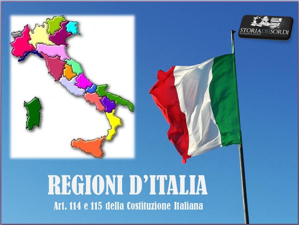 Regioni d'Italia 114 e 115 costituzione
