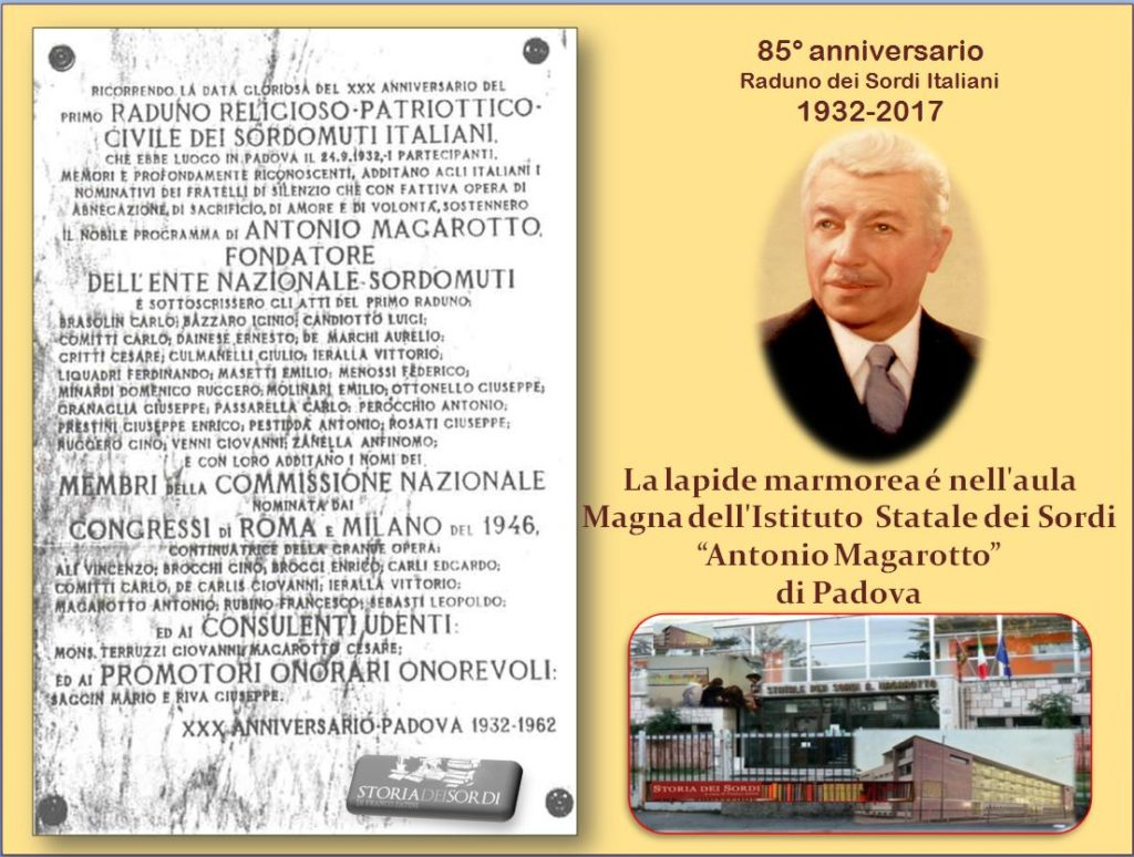 Antonio Magarotto Lapide del Raduno 1932