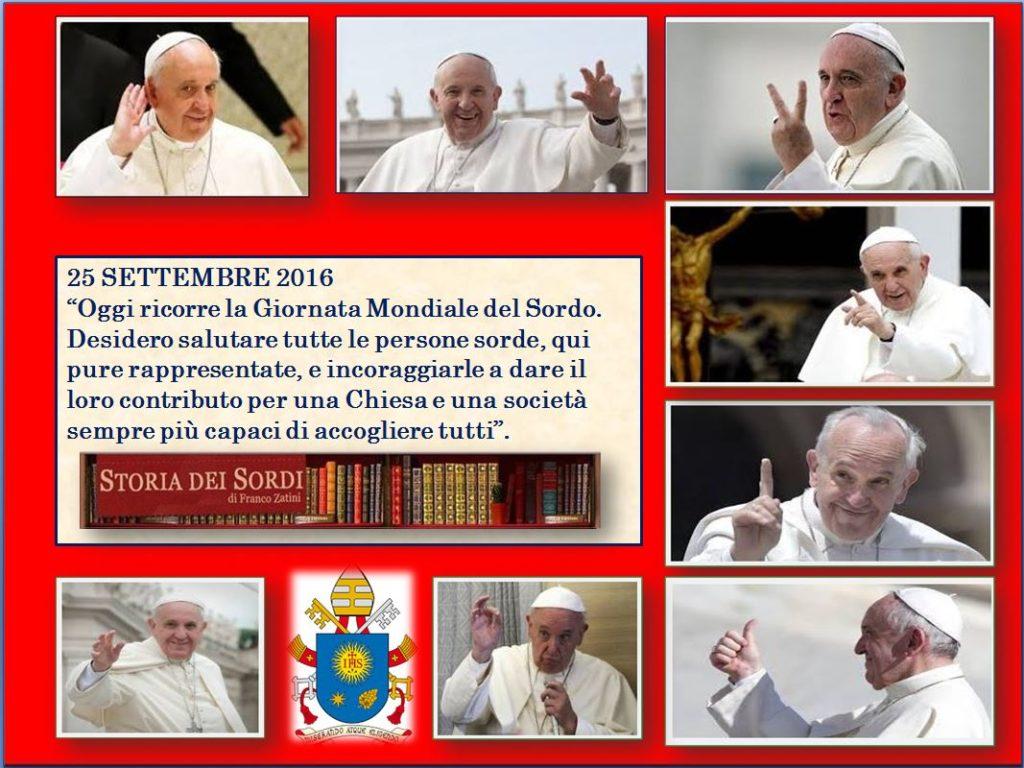 Giornata Mondiale del Sordo 2016 Papa Francesco