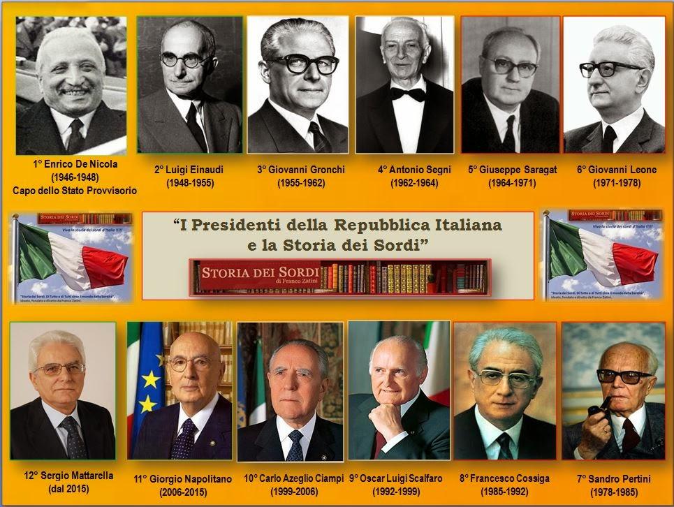 I Presidenti della Repubblica e la Storia dei Sordi