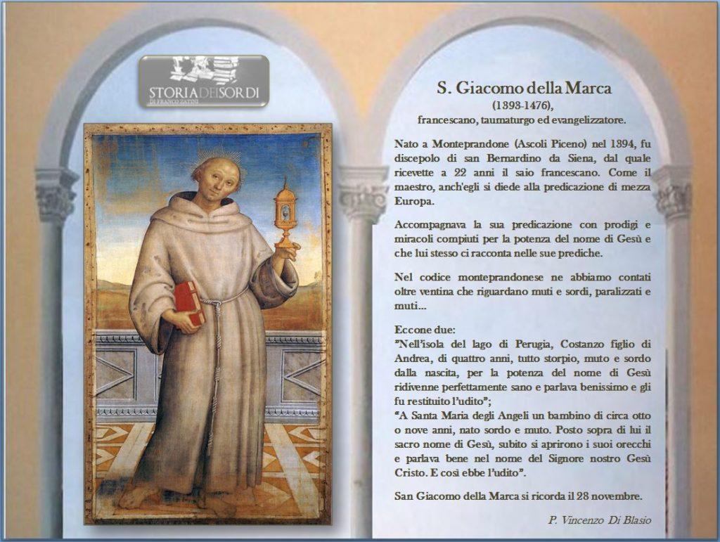 San Giacomo della Marca e storia dei sordi