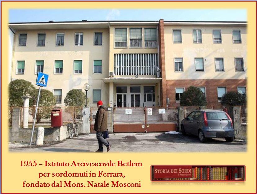 1955 Istituto Betlem per sordomuti Ferrara