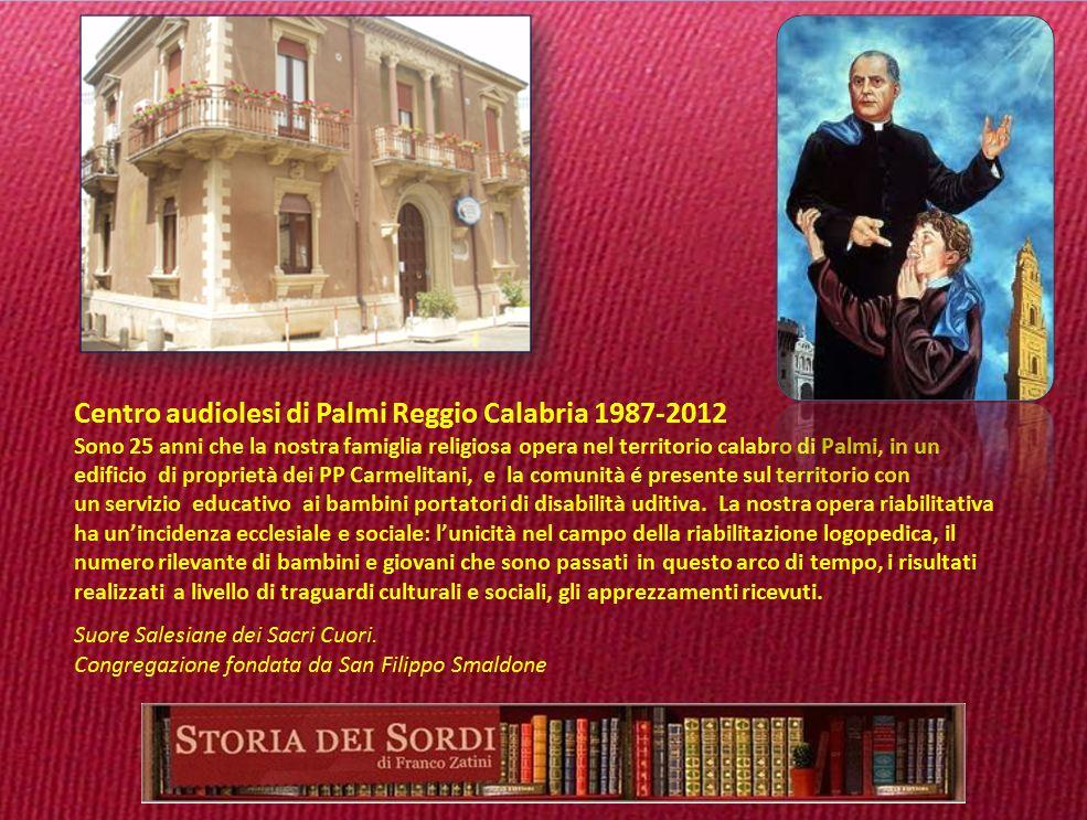 1988 Centro Audiolesi di Palmi Reggio Calabria
