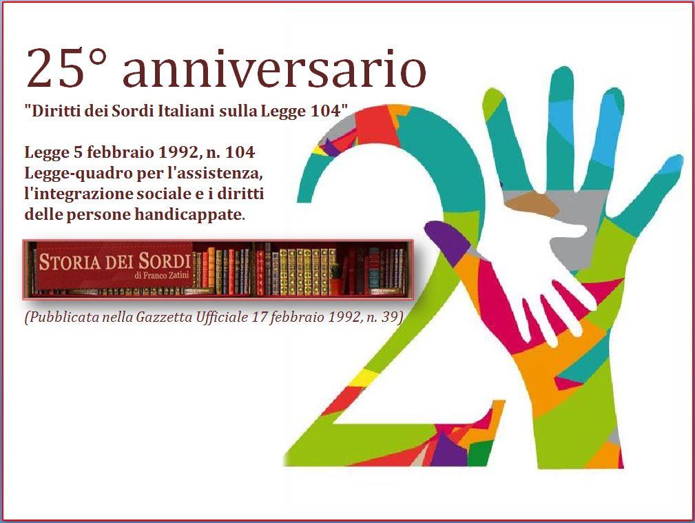 25 anniversario Legge 104 del 1992