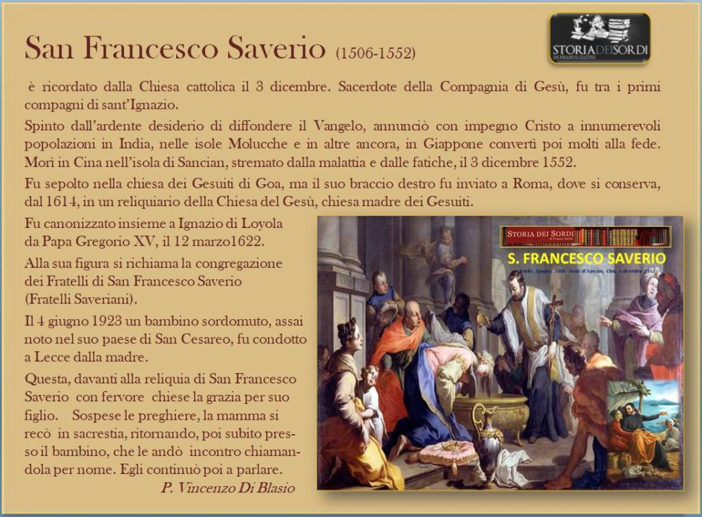 Saverio Francesco (Santo) 1506-1552
