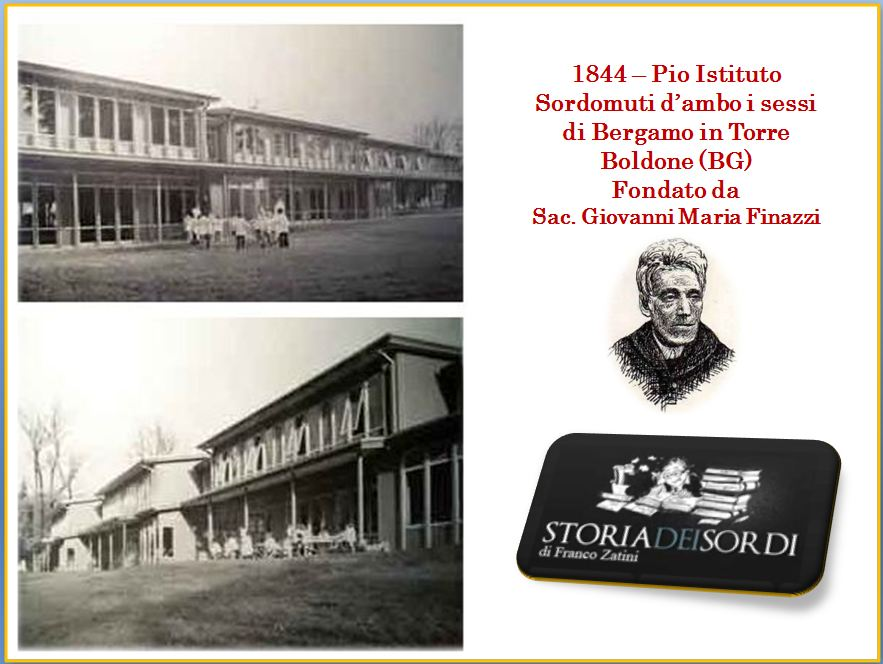 1844 Pio Istituto Sordomuti Torre Boldone Bergamo