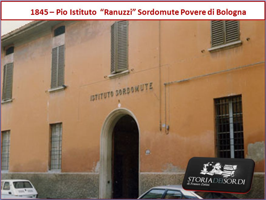 1845 Istituto Sordomute Ranuzzi Bologna