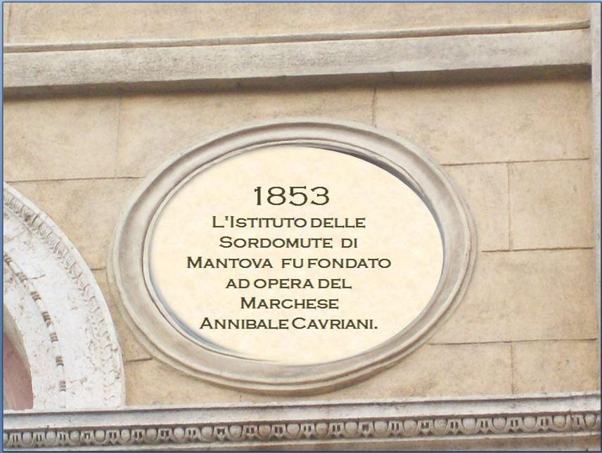 1853 Istituto Sordomute Mantova