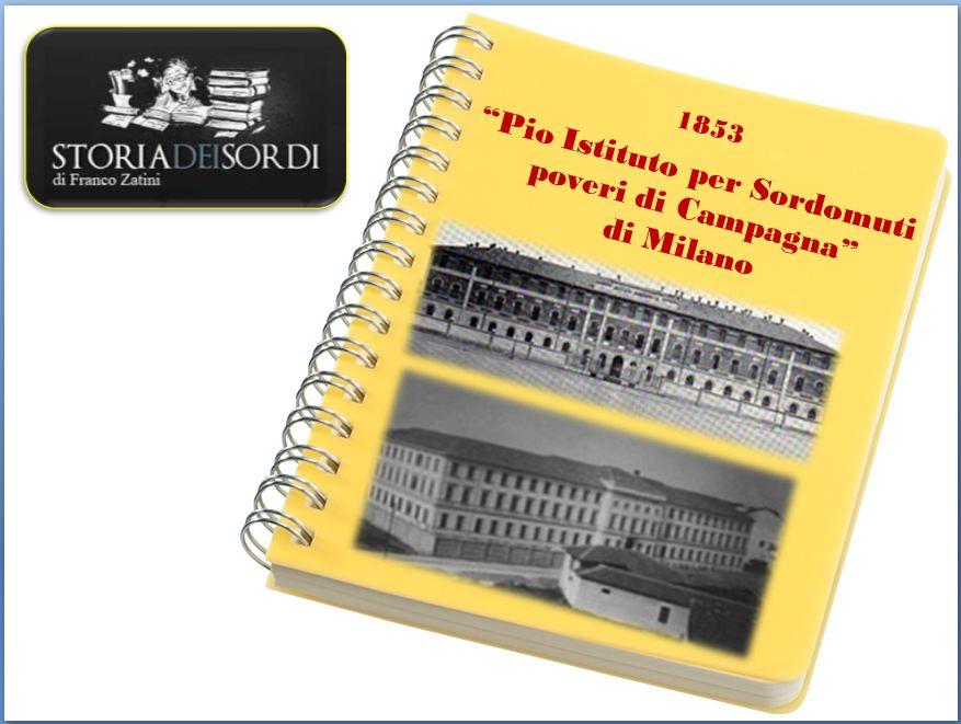 1853 Pio Istituto Sordomuti Milano