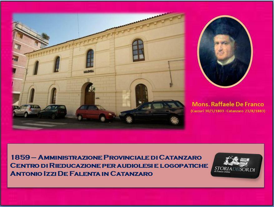 1859 Istituto Provinciale Sordomuti Catanzaro