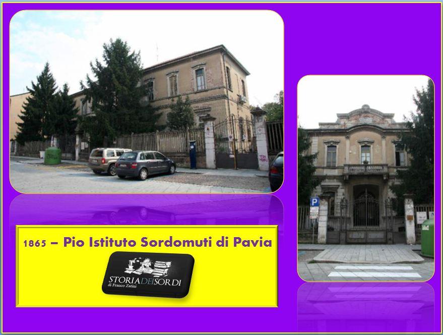 1865 Pio Istituto Sordomuti Pavia
