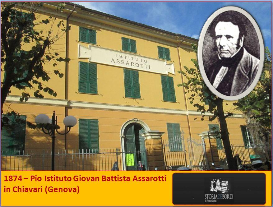 1874 Istituto Giovan Battista Assarotti Chiavari