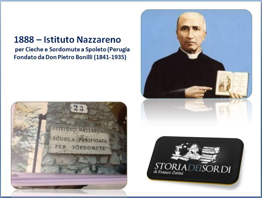 1888 Istituto Nazzareno Cieche e Sordomute Spoleto