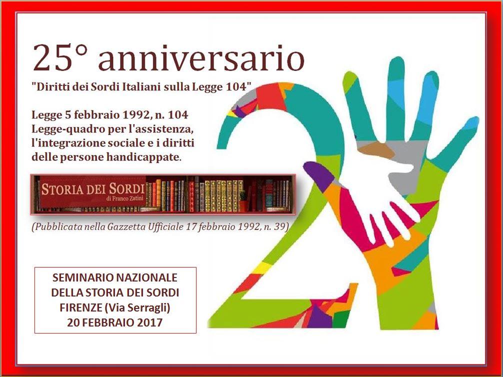 25° anniversario legge 104