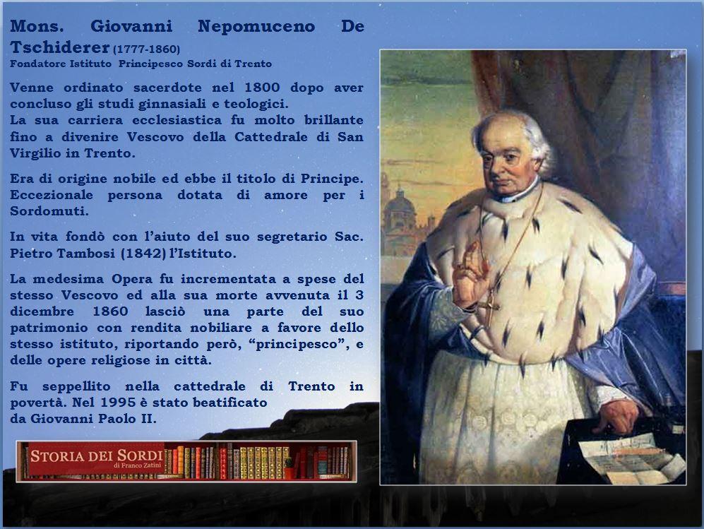 De Tschiderer Giovanni Nepomuceno