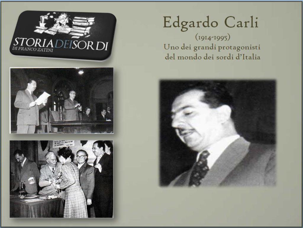 Edgardo Carli Storia dei Sordi