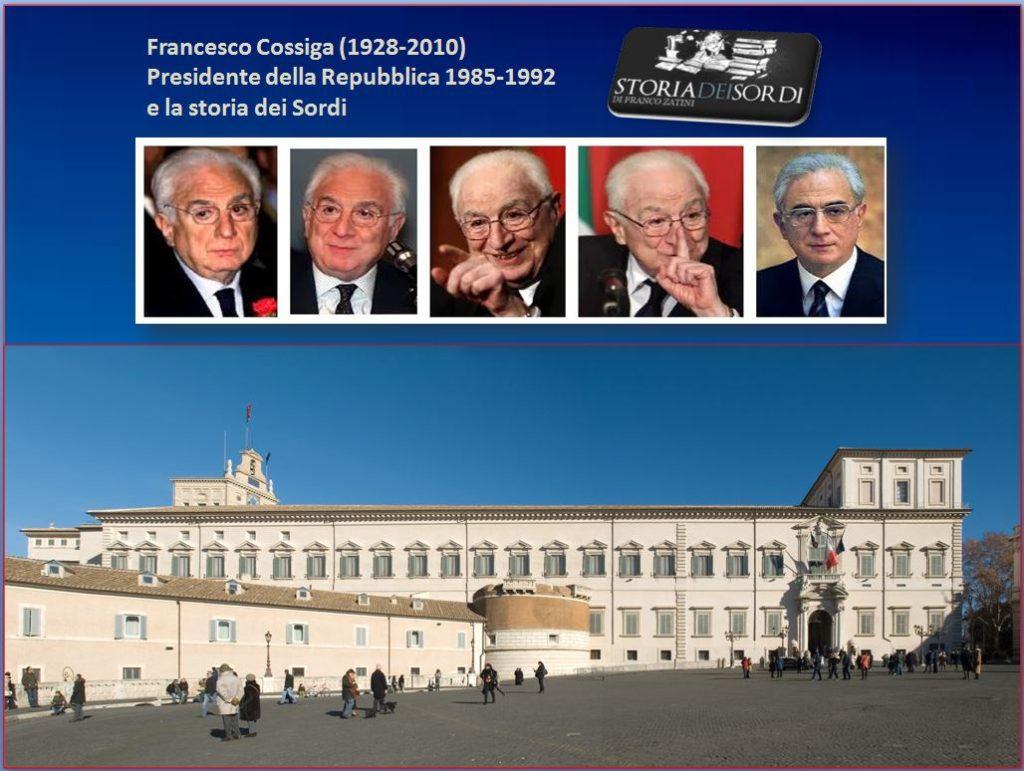Francesco Cossiga e storia dei sordi