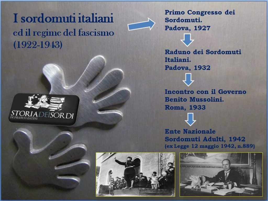 I sordomuti e il regime di fascista 1922 1943