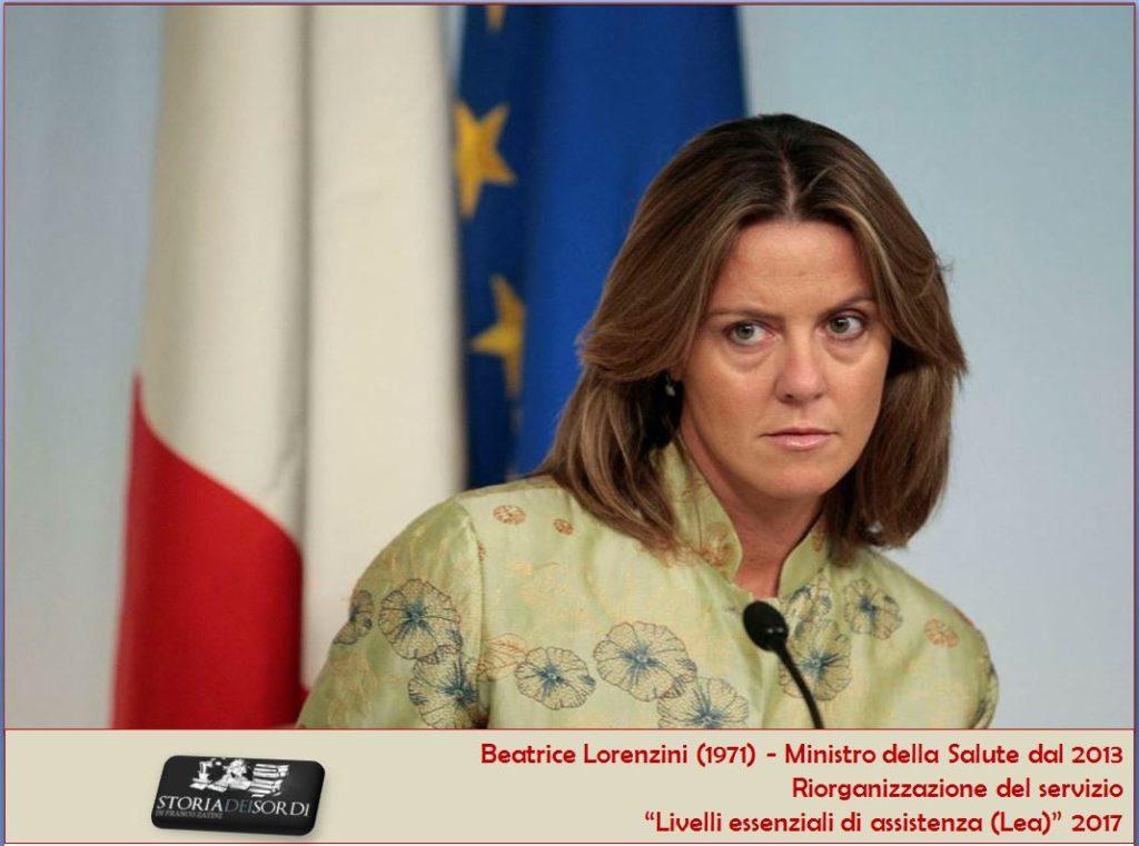 Lorenzini Beatrice. Nuovi livelli essenziali di assistenza Lea 2017
