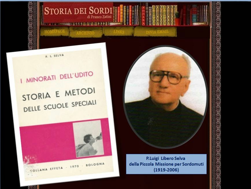 Luigi Libero Selva Storia dei Sordi