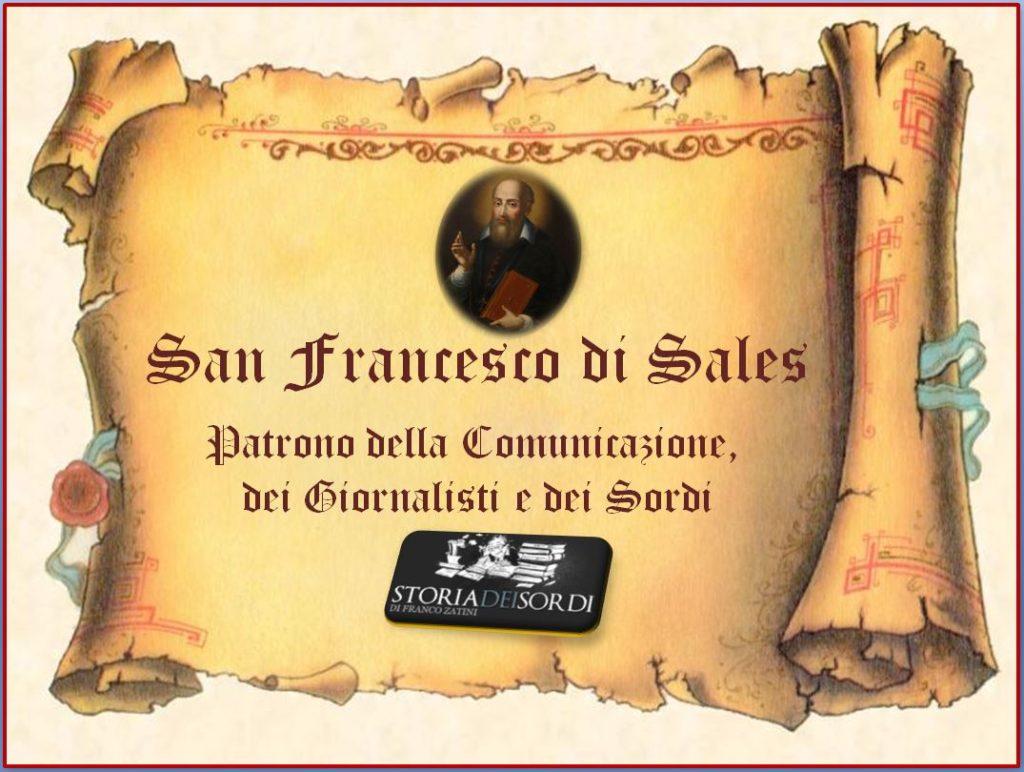 San Francesco di Sales Patrono comunicazione, giornalisti e sordi
