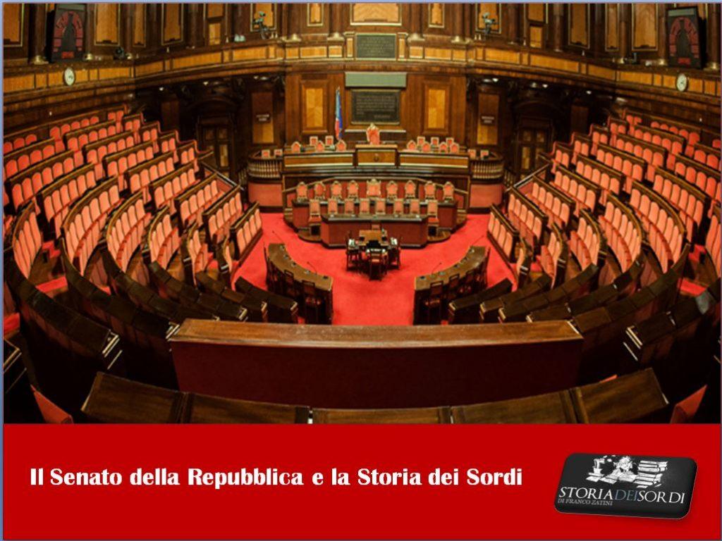 Senato della Repubblica e Storia dei Sordi