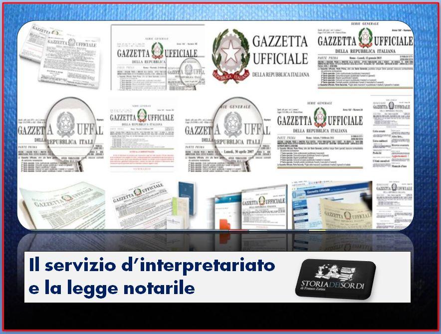 Servizio Interpretariato Legge Notarile