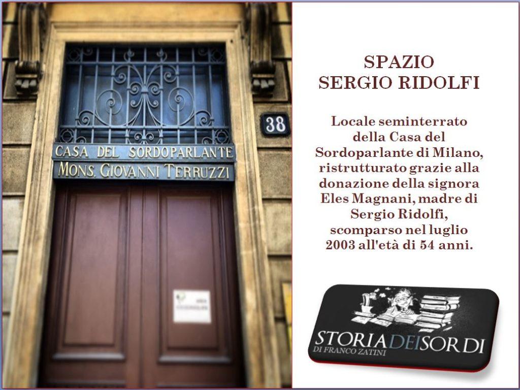Spazio Sergio Ridolfi Storia dei sordi