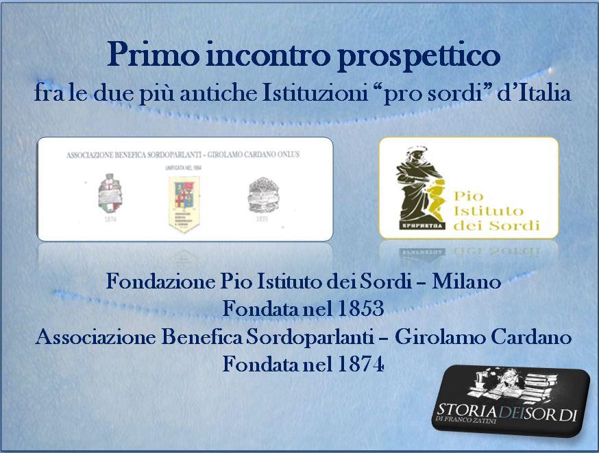 Primo incontro Pio Istituto e Associazione Benefica Cardano