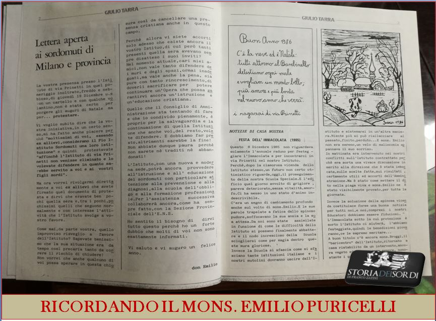 Ricordando Mons. Emilio Puricelli 2017