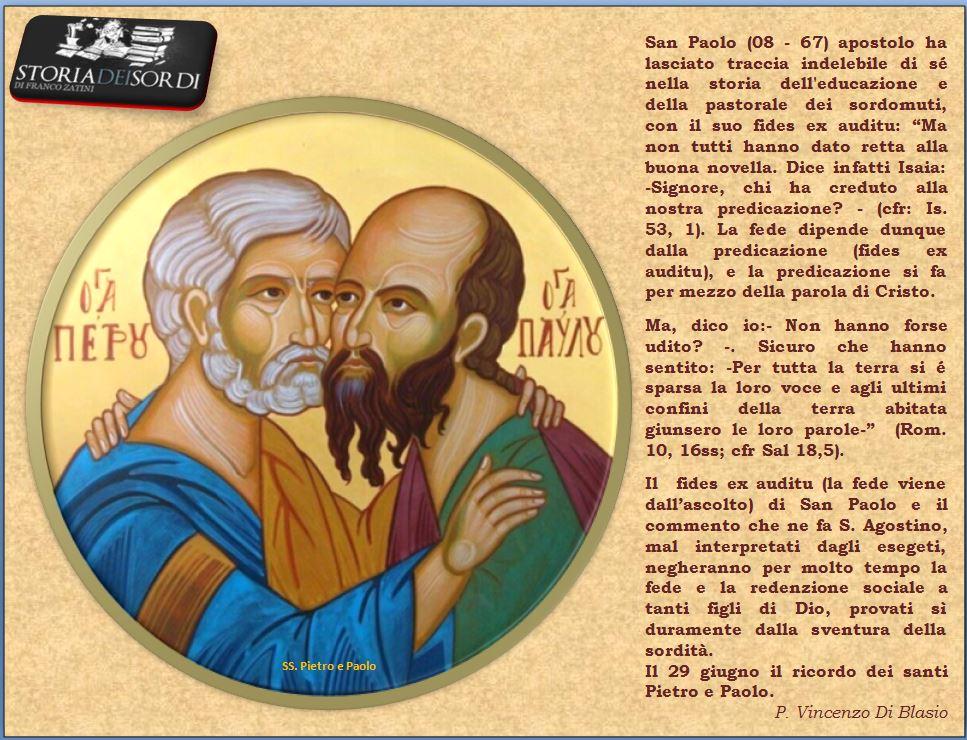 SS. Pietro e Paolo Storia dei sordi