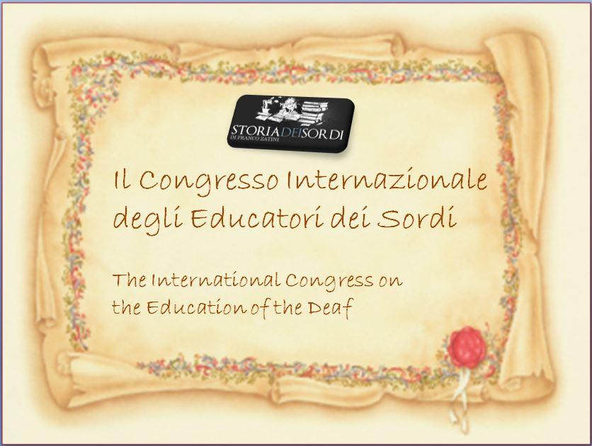 Il Congresso Internazionale degli Educatori dei Sordi